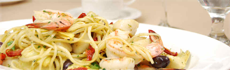 Seafood Pasta with King Prawns and Scallops